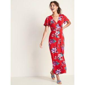 Jersey Floral Maxi Dress